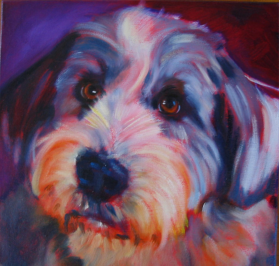 Old English Sheep Dog Painting - Willie by Kaytee Esser