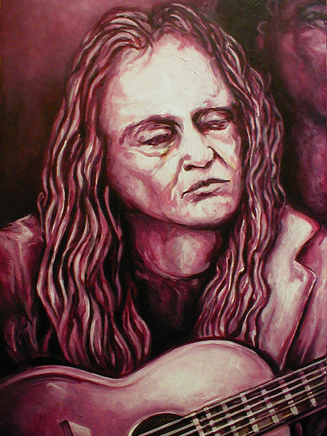 Painting Painting - Willie by Lloyd DeBerry