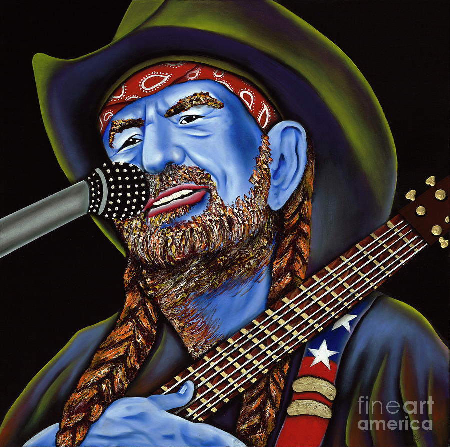 Portrait Painting - Willie by Nannette Harris