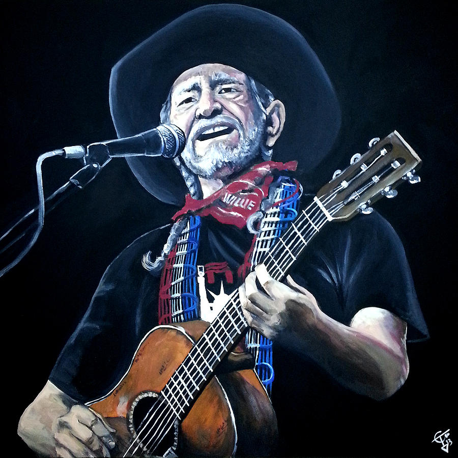 Willie Nelson Painting - Willie Nelson 2 by Tom Carlton