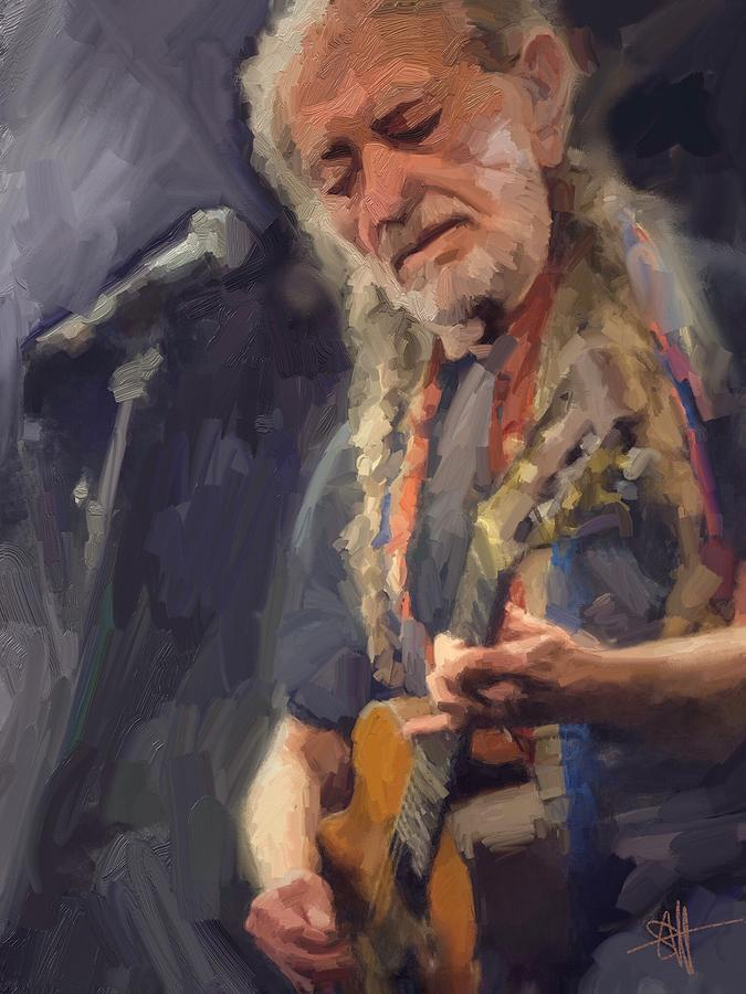 Willie Digital Art by Scott Waters