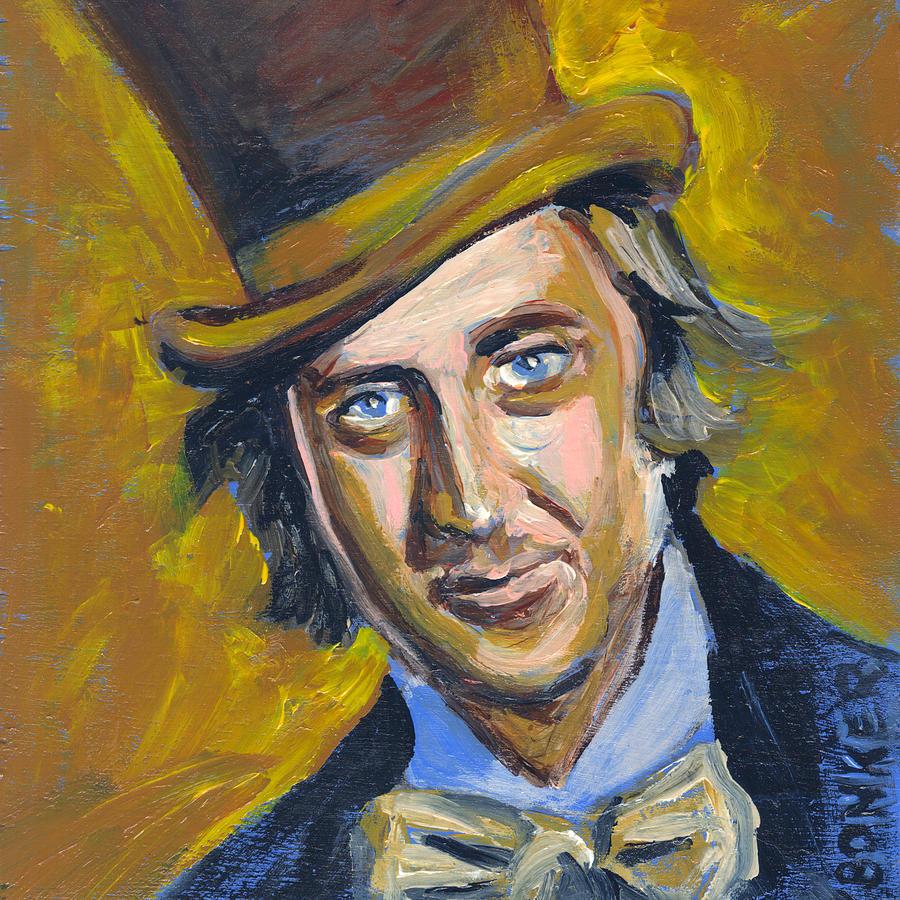 Willy Wonka Painting - Willly Wonka by Buffalo Bonker