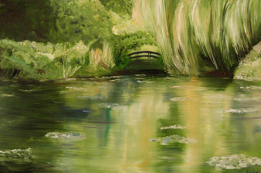 Lisa Painting - Willow At Monet by Lisa Konkol
