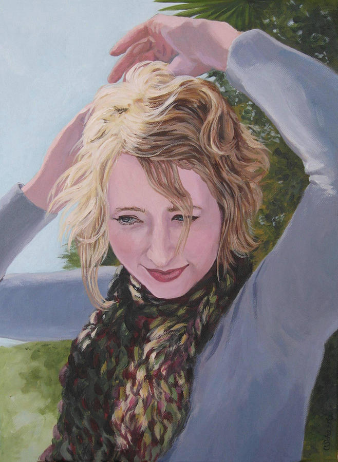 Portrait Painting - Willow In The Winter Sun by Connie Schaertl