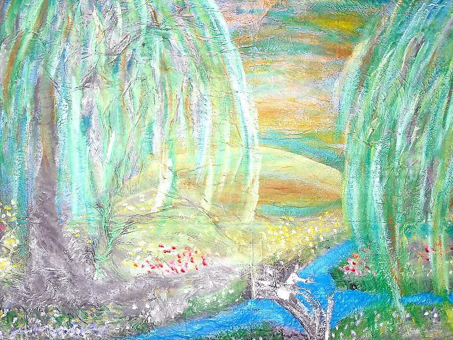 Lake Painting - Willow Lake by BJ Abrams