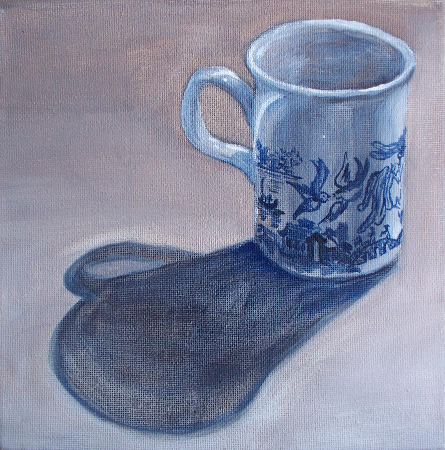 Willow Pattern Mug Painting by Kellie Hogben