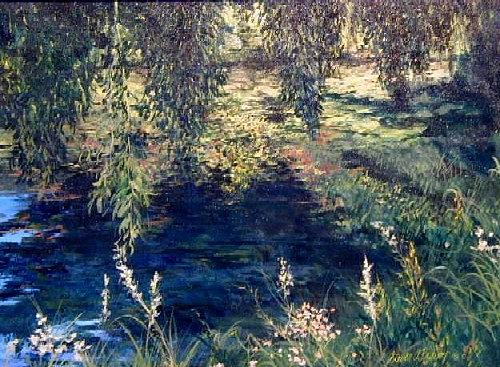 Landscape Painting - Willows by Steven Bower