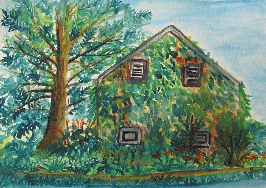 Landscape Painting - Willowwood by Caroline Lifshey