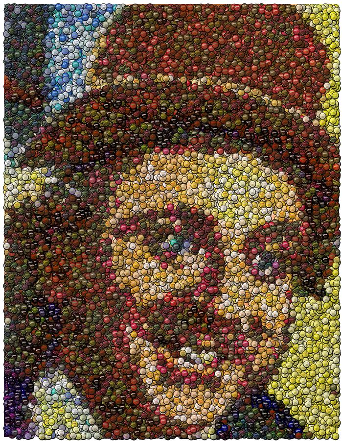 Willy Wonka Fizzy Lifting Bottle Cap Mosaic Mixed Media