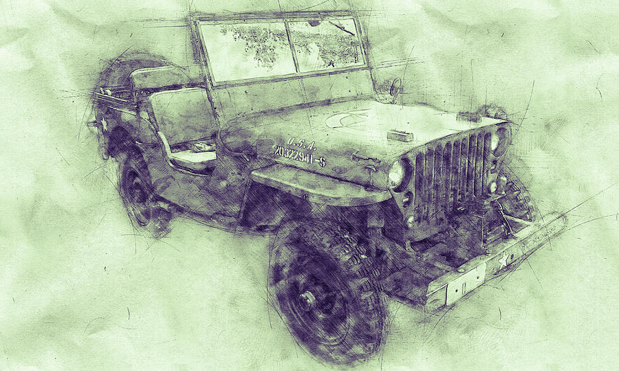 Willys Mb 3 - Ford Gpw - Jeep - Automotive Art - Car Posters Mixed Media