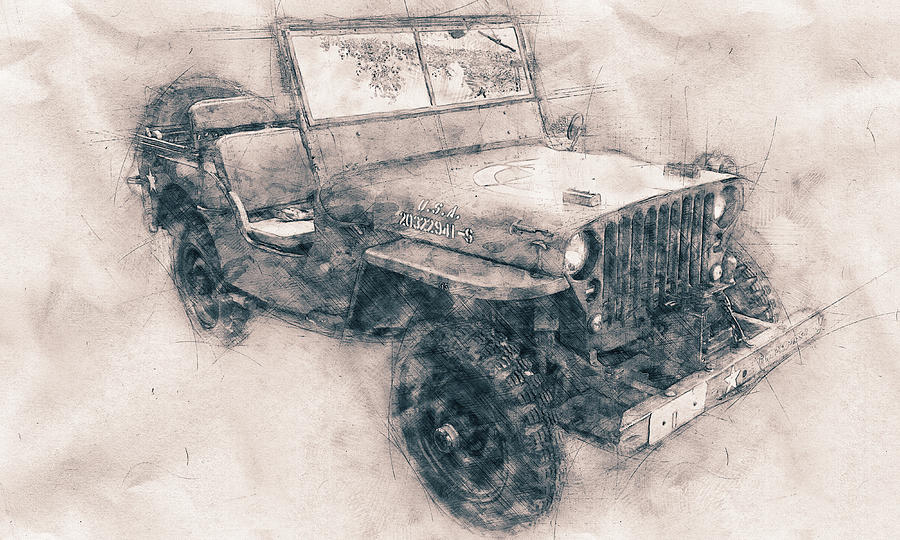 Willys Mb - Ford Gpw - Jeep - Automotive Art - Car Posters Mixed Media