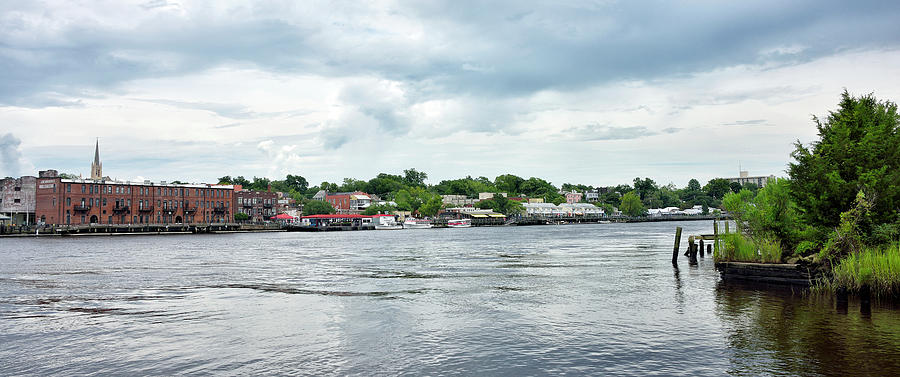 Cape Fear River Photograph - Wilmington North Carolina Panorama by Brendan Reals