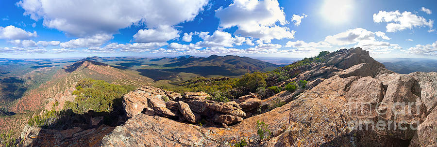 Wilpena Pound And St Mary Peak Photograph by Bill  Robinson