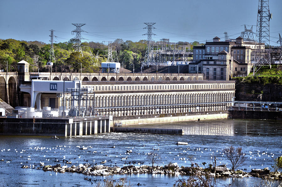 Wilson Dam Florence, Alabama Full View Photograph by Lesa Fine