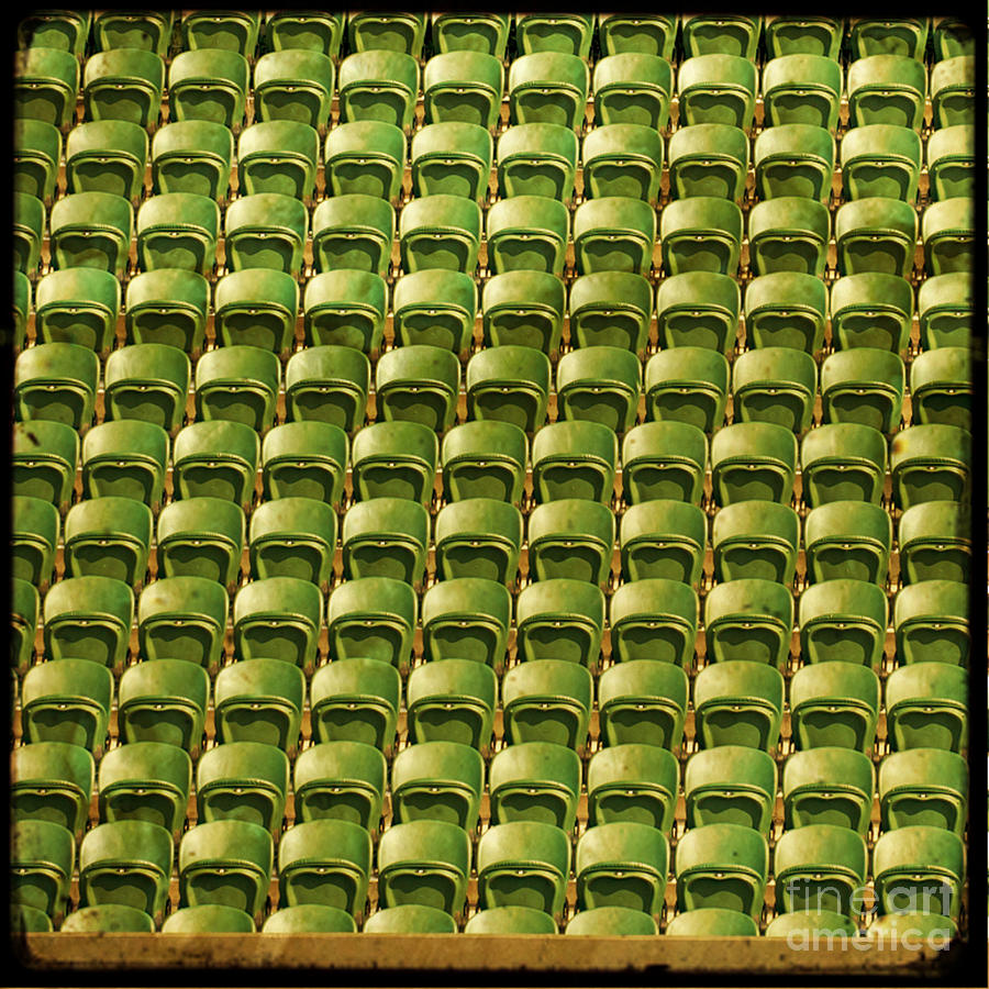 Wimbledon Photograph - Wimbledon Seats by Sonia Stewart