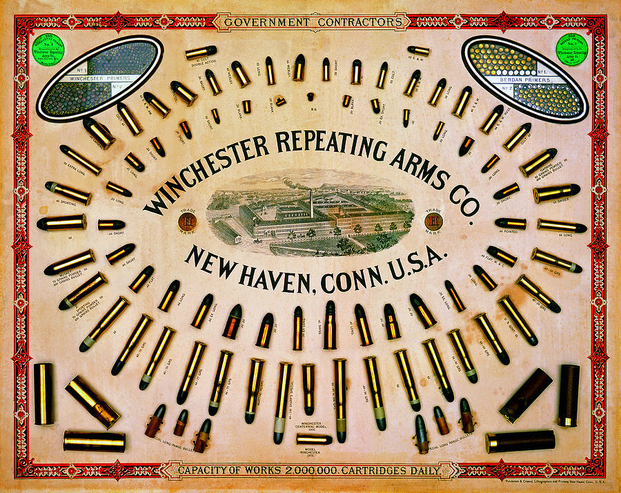 Outdoor Painting - Winchester Government Contractor Cartridge Board by Unknown