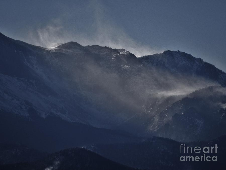 Winter Photograph - Wind And Snow by CL Redding