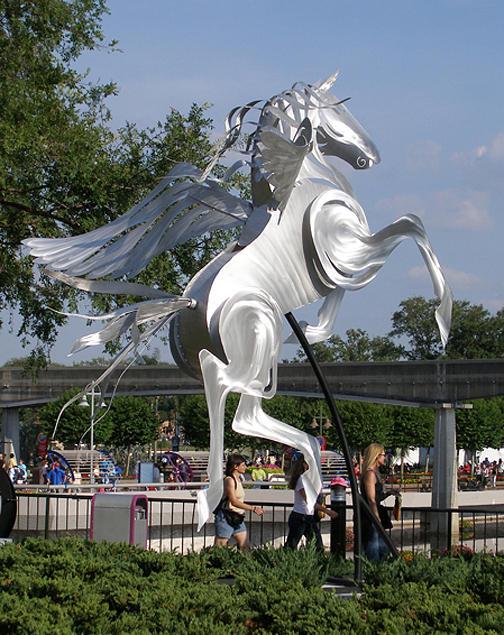 Horse Sculpture - Wind Dancer Pegasus by Mindy Z  Colton