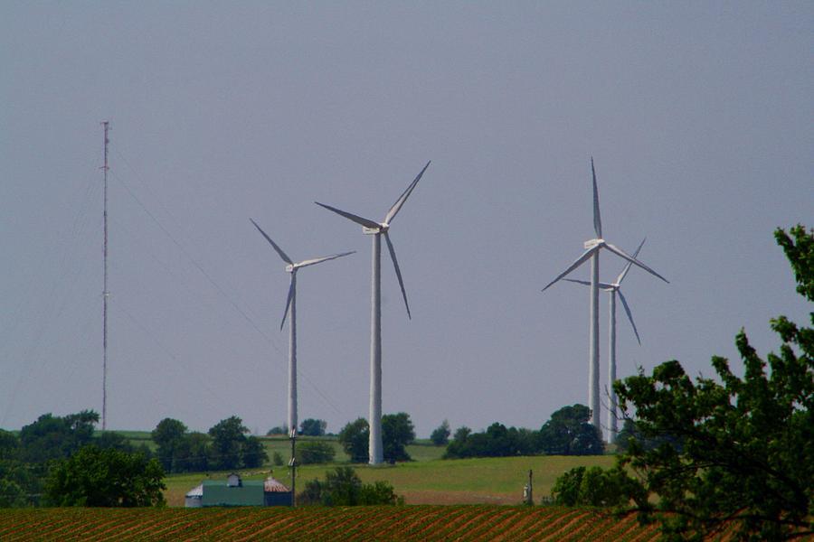 Wind Photograph - Wind Generators by Kathryn Meyer