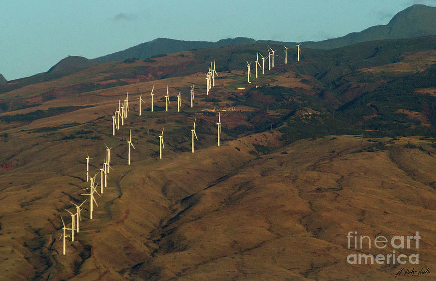 Wind Photograph - Wind Generators-signed-#0037 by J L Woody Wooden