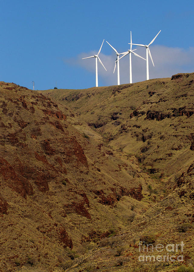 Wind Photograph - Wind Generators-signed-#0368 by J L Woody Wooden