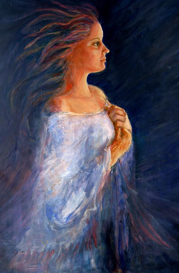 Women Painting - Wind by Gladiola Sotomayor