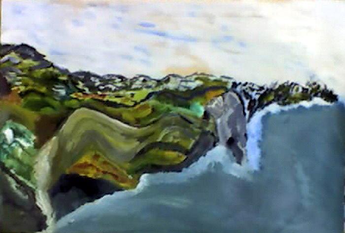 Abstract Painting - Wind Hills by Anna   Harakchiyska