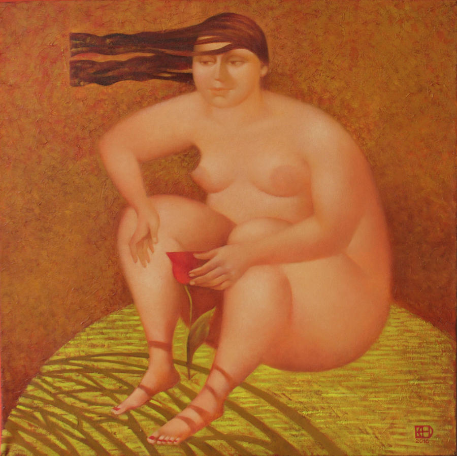 Nude Painting - Wind increased by Nadia Egorova