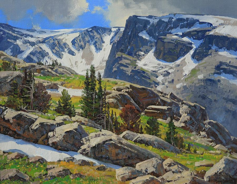 Landscape Painting - Wind River Range-wyoming by Lanny Grant