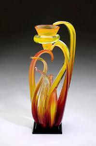 Art Glass Glass Art - Wind Series 2007 by Randy Strong