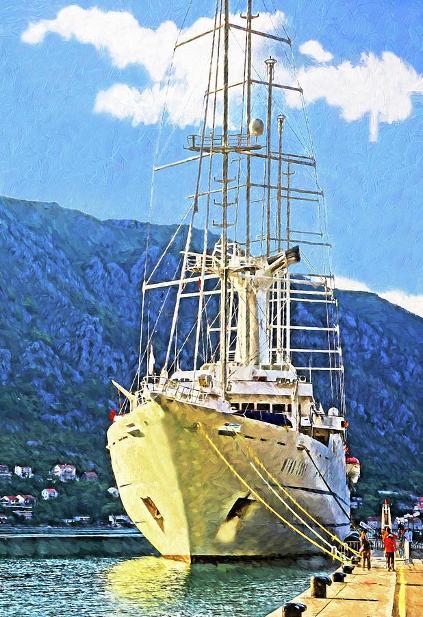 Wind Surf Cruise Ship Digital Art