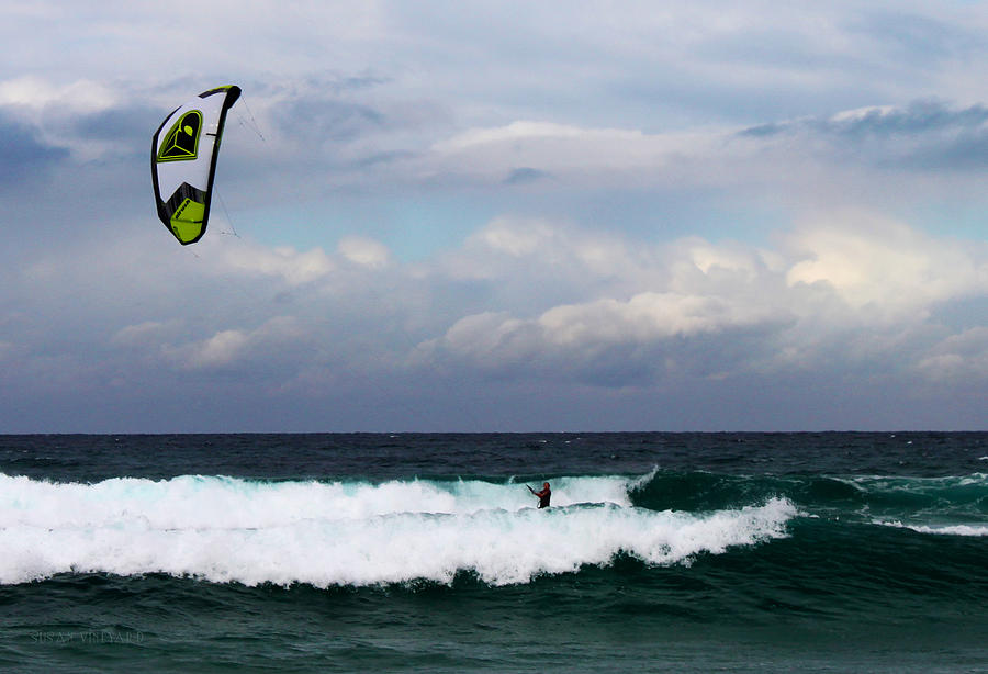 Seascape Photograph - Wind Surfing Surfers Paradise by Susan Vineyard