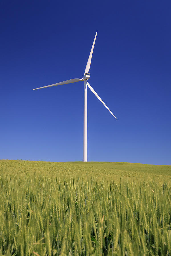 Palouse Photograph - Wind Turbine by Windy Corduroy