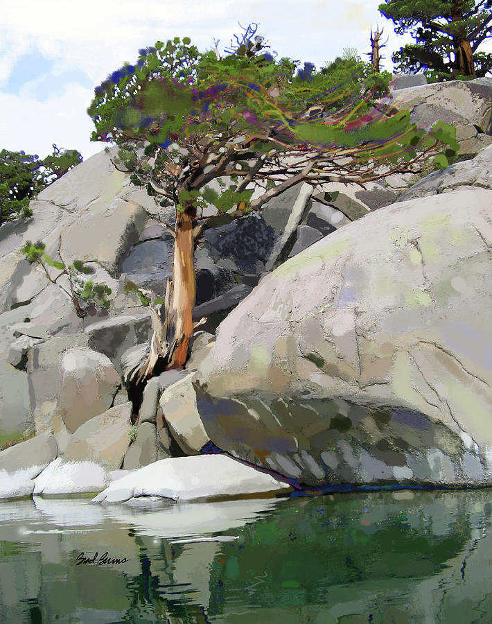 Wind, Water And Granite Painting