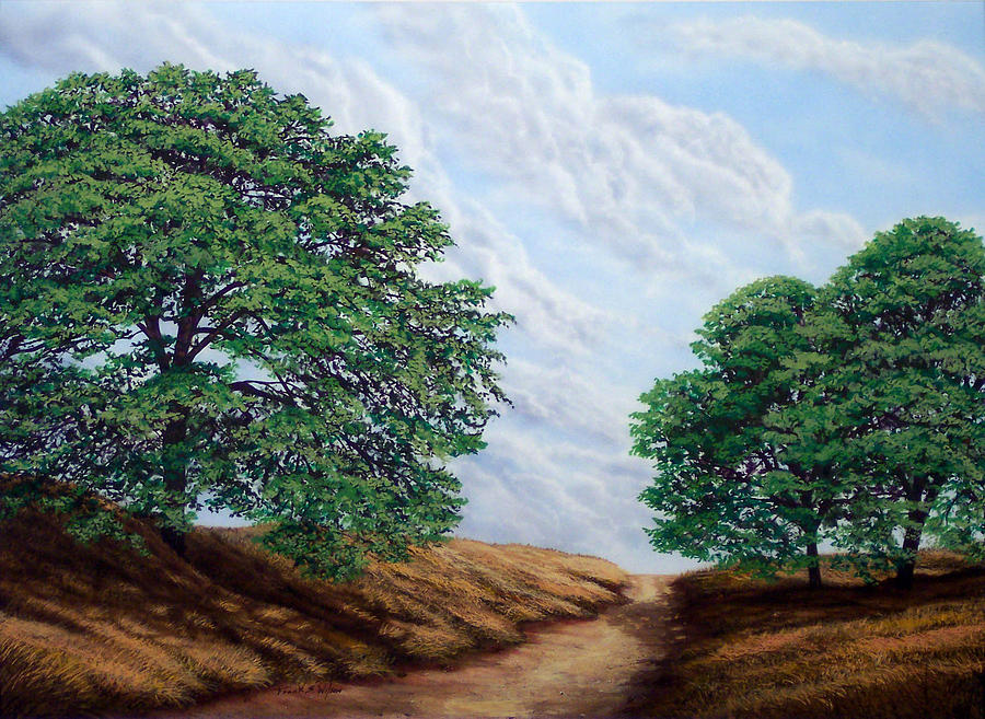 Landscape Painting - Windblown Clouds by Frank Wilson