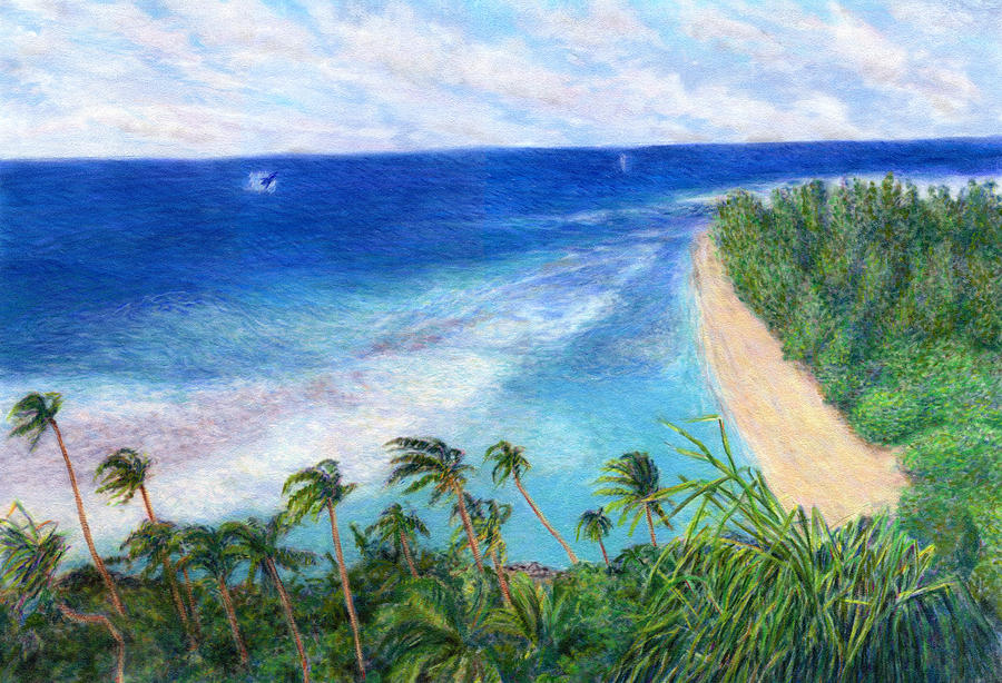 Tropical Interior Design Painting - Windblown by Kenneth Grzesik