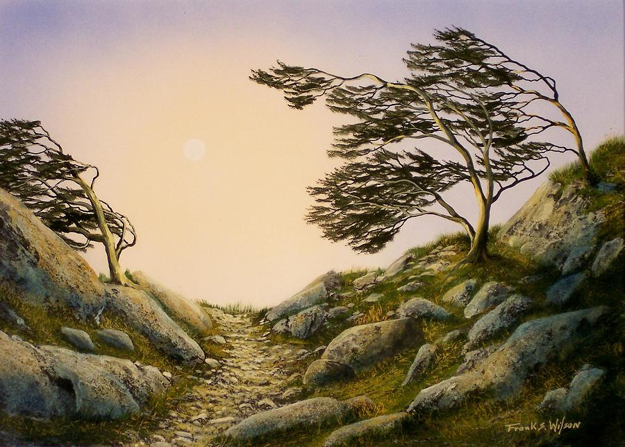 Landscape Painting - Windblown Warriors by Frank Wilson