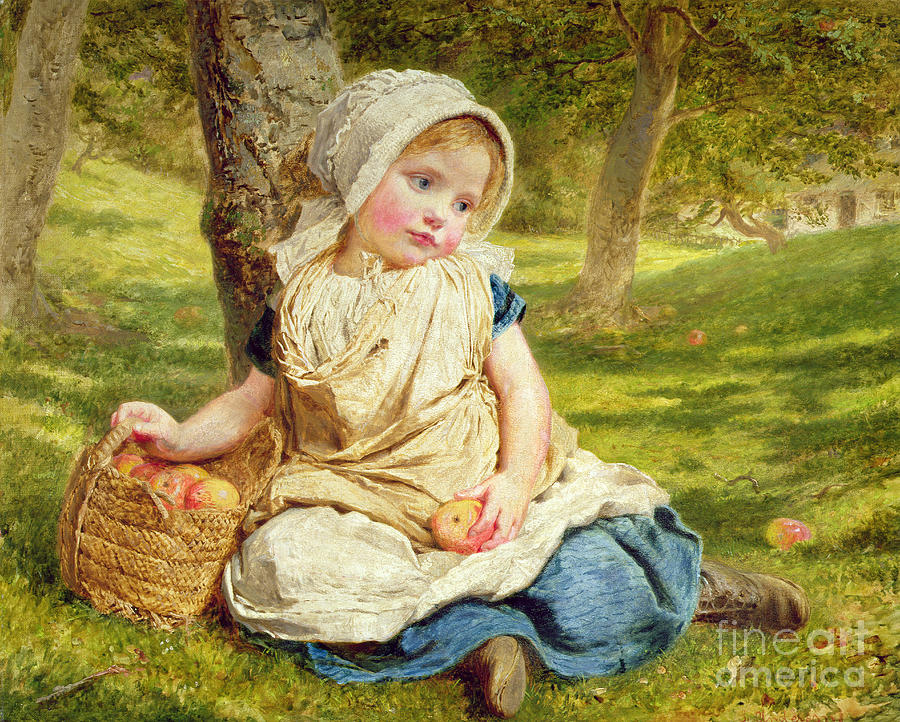 Kid Painting - Windfalls by Sophie Anderson