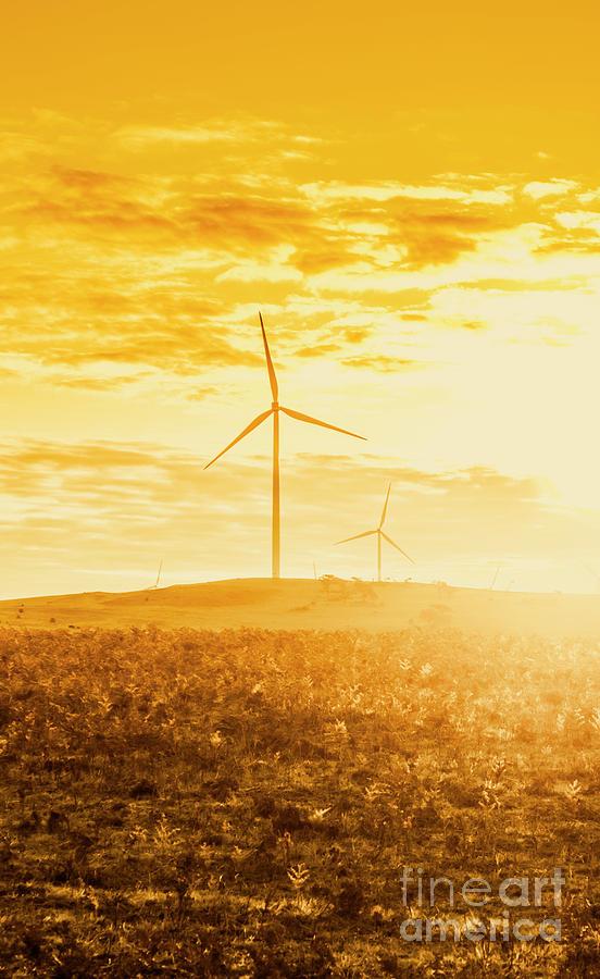 Landscape Photograph - Windfarm Sunset by Jorgo Photography - Wall Art Gallery