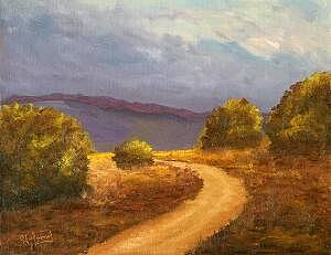 Landscapes Painting - Winding Down by Graham Murray
