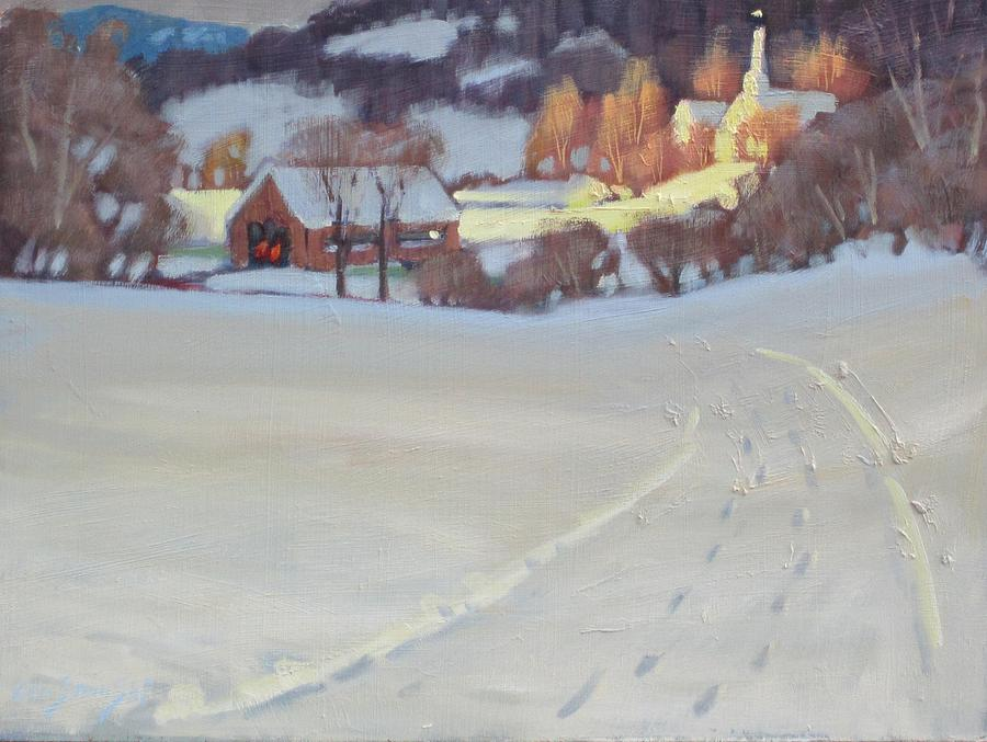 Winter Painting - Winding Road by Len Stomski