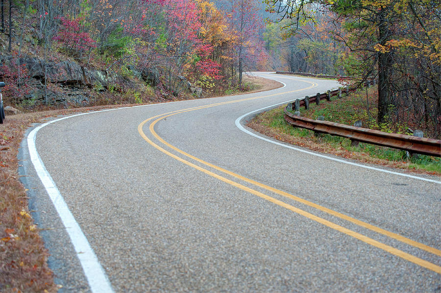 America Photograph - Winding Roads In Autumn by Gregory Ballos