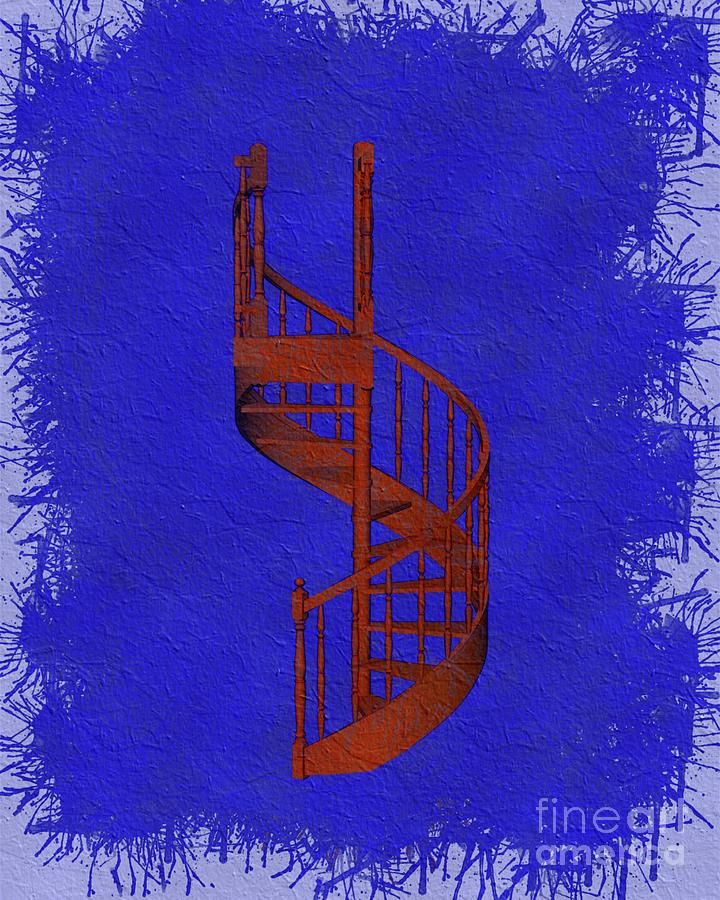 Winding Staircase - Freemasonic Symbolism Painting