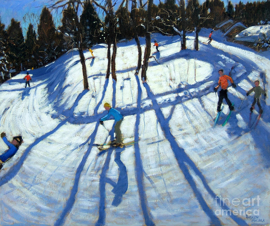 Piste Painting - Winding Trail Morzine by Andrew Macara