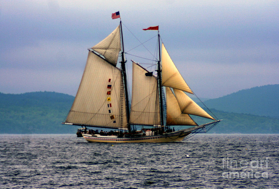 Sailboat Photograph - Windjammer Lewis R French by Jim Beckwith