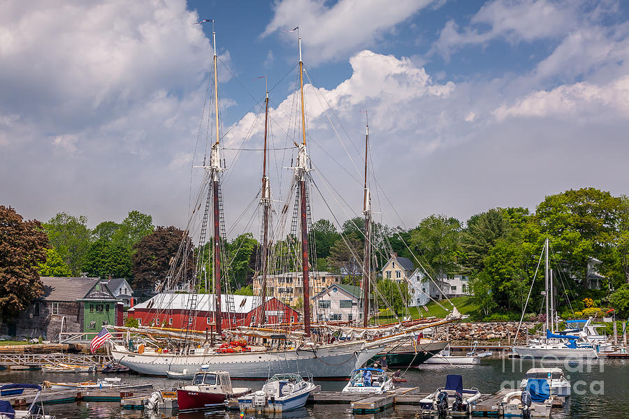 Windjammers in Camden Harbor by Susan Cole Kelly