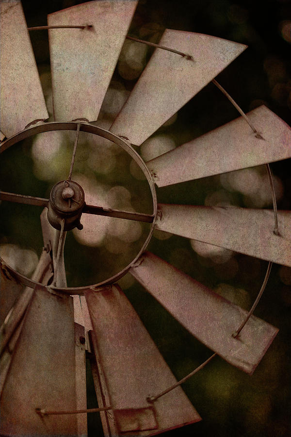 Wind Digital Art - Windmill At Dusk by Terry Davis