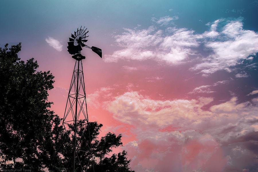 Windmill at Sunset by Gaylon Yancy