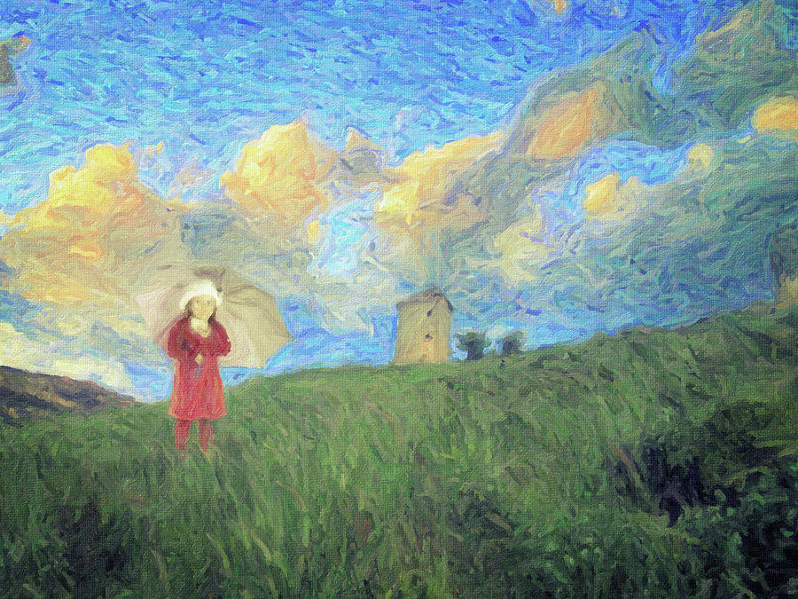 Impressionism Painting - Windmill girl by Zapista OU