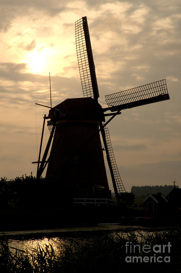 Windmill Photograph - Windmill In Silhouette by Andy Smy